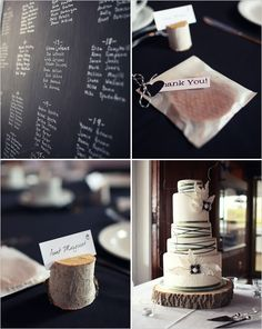 blush and black wedding | Black and white isn't just for ballrooms anymore. Mix this classic ...