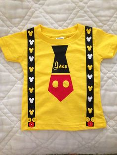 Personalized Mickey tie shirt for Disney
