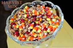 This HARVEST mix is ADDICTING! It's my family's favorite fall treat. www.bddesignblog.com
