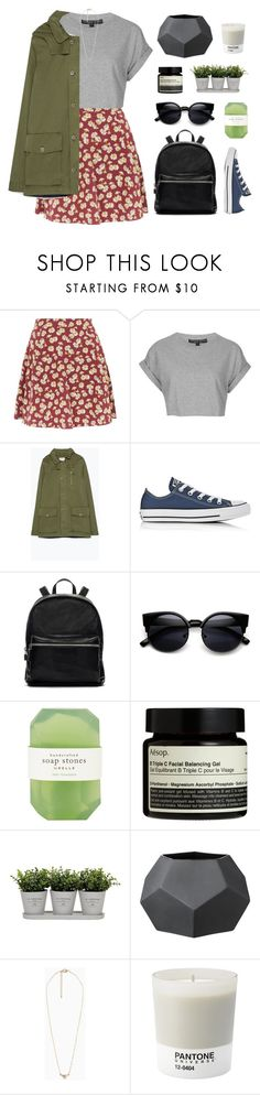 """""""Let Go of Negativity, Focus on the Good."""" by hiddlescat ❤ liked on Polyvore featuring Topshop, Zara, Converse, Elizabeth and James, ZeroUV, Pelle, Aesop, Torre & Tagus, Bloomingville and MANGO"""