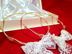 Handmade Stefana/Orthodox Wedding Crowns.Gold by RNIA on Etsy, €75.00