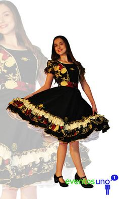 Chilenos Cueca Chilean traditional costumes Clogs Outfit, Dresses Kids Girl, Dance Dresses, Kids Girls, Vintage Dresses, Fashion Outfits, Blouse, How To Wear, Style