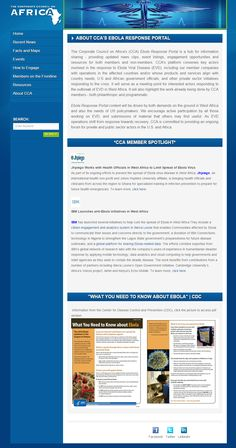 First Site, Recent News, Portal, No Response, Africa, Events, Engagement, Website, Create