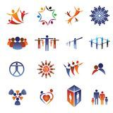 Icon & logo set-business people,family,team Royalty Free Stock Image