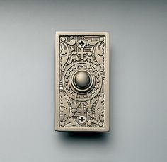 Rectangle Embossed Doorbell in Oil Rubbed Bronze - from Restoration Hardware Doorbell Cover, Ring My Bell, Knobs And Knockers, Door Furniture, Furniture Design, Pomellato, Restoration Hardware, Exterior Design, In This World