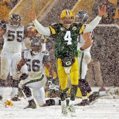 Q: Which NFL snow game was SO cold, Brett Favre took a sauna break at halftime?