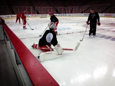 Monster, Sammy, Mursak and Colaiacovo all skated and did drills before practice on 2/4/13!!!!