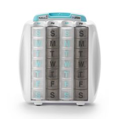 The PillRite pillbox lets you set up medications for four weeks at a time instead of the standard 1 week, ensuring that you never miss a dose. The handy vitamin list compartment stores everything you need in one place. Medication List, Set A Reminder, Pill Organizer, Organizers, Amazon Buy, Pill Boxes, Product Label, Life Organization, Atelier