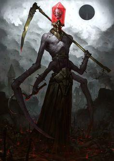 Reaper, Bogdan Rezunenko on ArtStation at https://www.artstation.com/artwork/reaper-14b6da4a-da01-4720-89f4-254502a7f7d8
