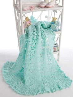 Crochet Patterns Intermediate : ... -quality lace pattern - Intermediate ~ Crochet Baby Blanket / Afghan