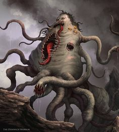Cthulhu Project - The Dunwich Horror by Serathus on DeviantArt Lovecraft Cthulhu, Hp Lovecraft, Monster Design, Monster Art, Arte Horror, Horror Art, Dark Fantasy, Fantasy Art, The Dunwich Horror