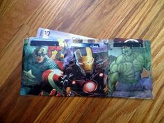 Comicbook Wallet From An Envelope #howto #tutorial