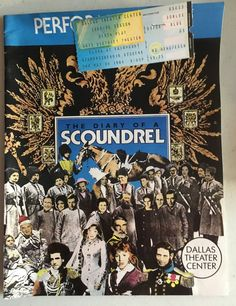 Vintage The Diary of a Scoundrel Playbill 1988, w/ Candy Buckley, Anne Gerety