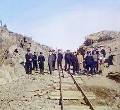 С. М. Прокудин-Горский. Группа участников ж.д. постройки 1916 год