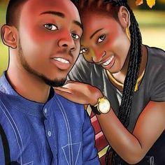 Black Couple Art, Black Love Couples, Cute Couples, Sexy Black Art, Black Love Art, Black Is Beautiful, Queen Art, Afro Girl, Couple Illustration