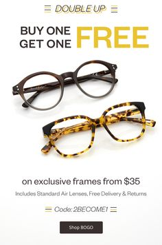 d41a897e1bdb Bargain - Buy One, Get One Free - BOGO Exclusive Brand @ Clearly Free  Glasses