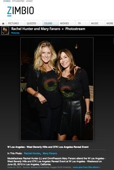 Zimbio - Rachel Hunter + Mary Fanaro