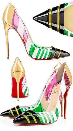High Heels ~ Classic Look ~ Christian Louboutin Stilettos, High Heels, How To Become Pretty, Cute Work Outfits, Chic Chic, Fashion And Beauty Tips, Signature Look, Crazy Shoes, Boat Shoes