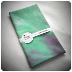 Mint Green Lilac Fat Quarter  hand dyed by HandmadeByElaine33, £3.95