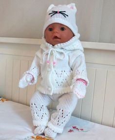 Items similar to Dolls clothing 16 inch doll knitted dolls clothes dolls clothing knitted dolls clothes dolls clothing baby dolls outfit baby born doll on Etsy Knitted Doll Patterns, Crochet Doll Pattern, Knitted Dolls, Baby Knitting Patterns, Baby Patterns, Crochet Dolls, Knitting Dolls Clothes, Crochet Doll Clothes, Doll Clothes Patterns