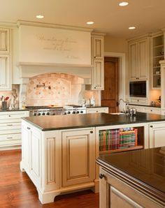 Kitchen, Islands, French Country, Wood Floors: Avgerakis Collaborate + Design + Build: Joe Karman Architecture