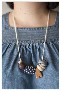 Malteser Clay Necklace by Dawn Tan