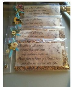 Memorial Garden seeds-***What a wonderful idea. I want this done for my funeral*** Funeral Memorial, Memorial Gifts, Memorial Ideas, Ideas For Memorial Service, Memorial Services, In Memory Of Dad, In Loving Memory, Funeral Arrangements, Flower Arrangements