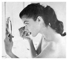 1950s Hairstyles, Vintage Hairstyles, Vintage Love, Vintage Beauty, Vintage Makeup, Vintage Ladies, 1950s Ponytail, Vintage Ponytail, Rockabilly Hair