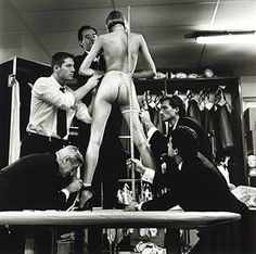 """Men measuring woman"" Helmut Newton"