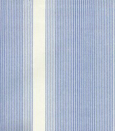 Waverly Upholstery Fabric-Big Wig Stripe/Marine