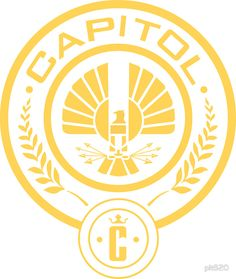 The Hunger Games Capitol Seal Stencil onto mason jar candle holder