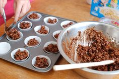 Rocky Road Rice Krispie Cakes #chocolate #kidsbaking #fun #ricekrispiecakes