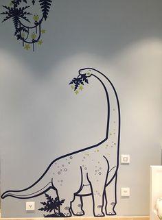 #diplodocus #dinosaur #wallstickers for #kidsroom by E-glue http://www.e-glue.fr/en/kids-wall-decals/611-kids-wall-decals-themed-packs-giants-jurassic.html