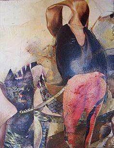 Thaïs et Loupiote -collage