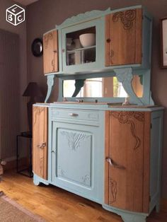 wesnuschka buffet mit herzen im polka dots shabby look ddr vitrine pinterest shabby. Black Bedroom Furniture Sets. Home Design Ideas