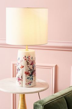Jen Garrido Wildflower Study Table Lamp by in Assorted, Lighting at Anthropologie Unique Table Lamps, San Francisco Houses, Unique Lighting, Decorative Lighting, Natural Forms, New Room, Light Decorations, Furniture Decor, Apartment Furniture