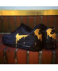 Nike Air Max 90 Candy Drip Melt Black Gold Trainer