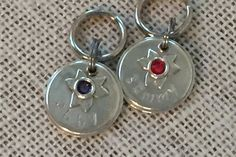 Sterling Silver, Personalized Pet ID Tag, Flower, Dog Tag, Cat Tag, Metal Tag, Swarovski Crystal by ClaudesPaws2 on Etsy