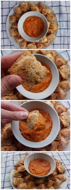 Crispy ravioli with Brava sauce - Raviolis crujientes con salsa Brava | Tasty Details