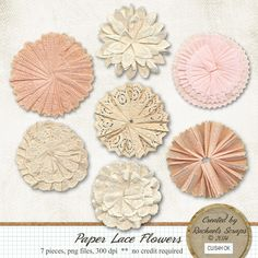 Paper Lace Flowers