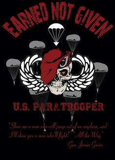 Paratrooper Army Mom, Army Life, Military Life, Military Art, Military Insignia, Airborne Army, Airborne Ranger, 82nd Airborne Division, Army Infantry