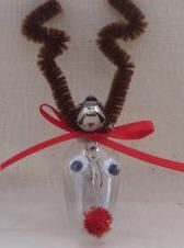 lightbulb crafts | craft ornaments from craft foam, felt, ribbon, beads, pipe cleaners ...
