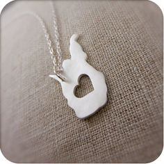 LOVE this HANDMADE Silver West Virginia necklace...handmade by a friend of mine!  @Janice Doner