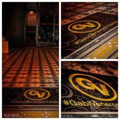 Adesivo de chão personalizado Festa Debutante Medida 80x40cm