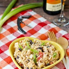 Creamy Southwestern Orzo Salad Recipe Salads with orzo, ear of corn, black beans, red bell pepper, green onions, sharp white cheddar cheese, ranch dressing, buttermilk, mayonaise, taco seasoning