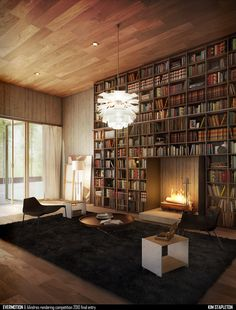 Potential idea for our fireplace wall renovation.
