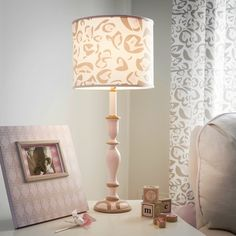 Pink and Taupe Leopard Lamp with Shade | Carousel Designs