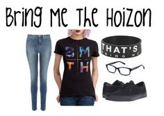 """""""Bring Me The Horizon"""" by awkwardsocially ❤ liked on Polyvore featuring J Brand, Vans and Bobbi Brown Cosmetics"""
