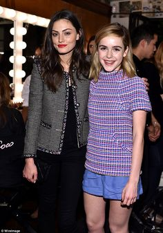 Getting lippy: Phoebe Tonkin and Kiernan both opted to finish off their ensembles with a s...