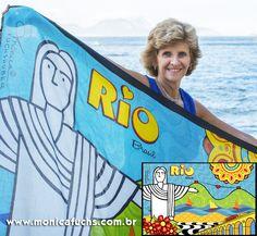 """Quer concorrer a uma canga Rio 2015 by Mônica Fuchshuber? Curta a minha página no Facebook e clique em """"quero participar"""". O sorteio será no dia 25/03!  https://www.facebook.com/monicafuchshuber01"""